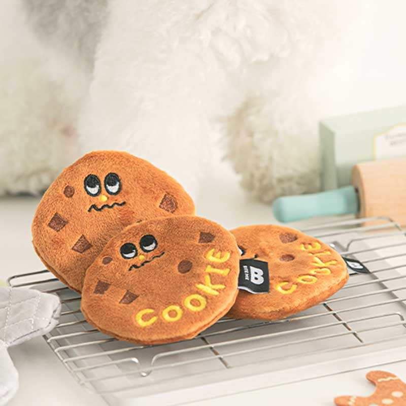 Bite Me Chocolate Cookie Nose Work Dog Toy - Set of 2 - CreatureLand