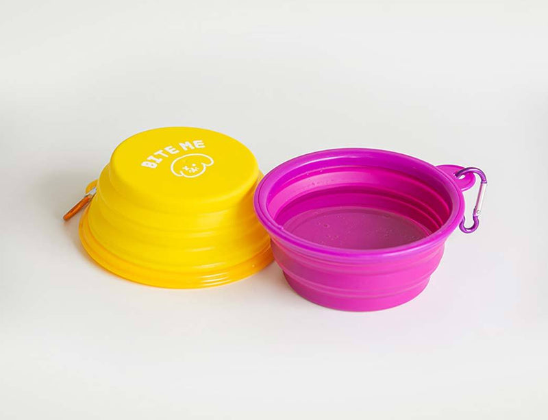 Bite Me Collapsible Travel Bowl (5 Colours) - CreatureLand
