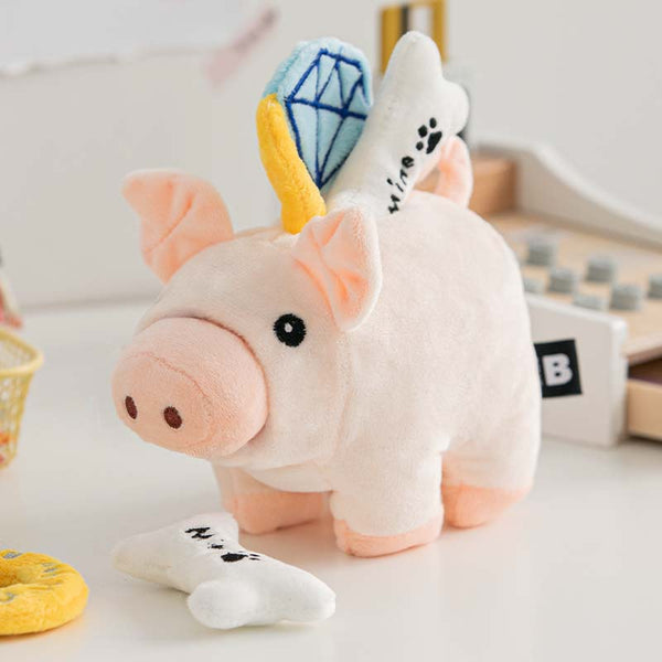 Bite Me Piggy Bank Nose Work Dog Toy - CreatureLand
