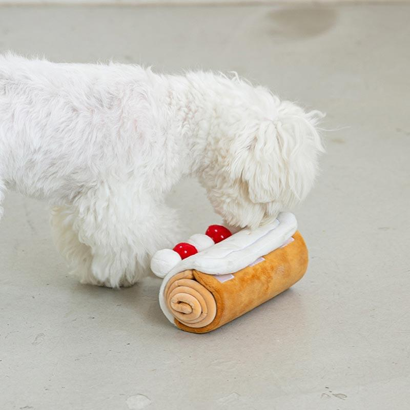 Bite Me Roll Cake Nose Work Dog Toy - CreatureLand