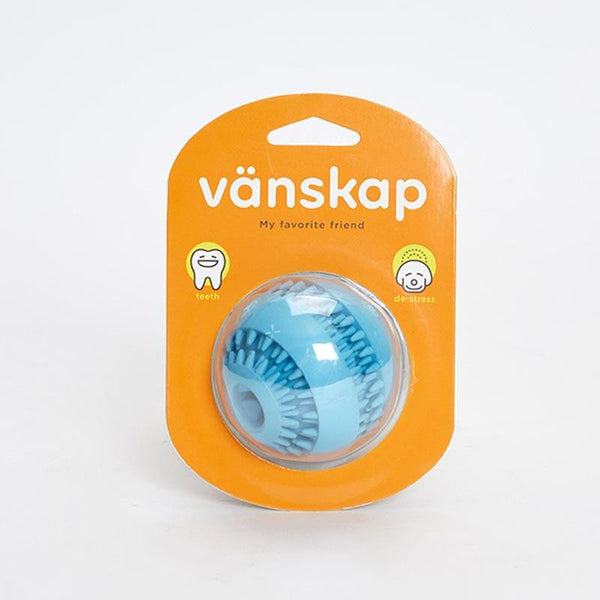 Bite Me Vänskap Teething Treat Ball - Natural Rubber - CreatureLand