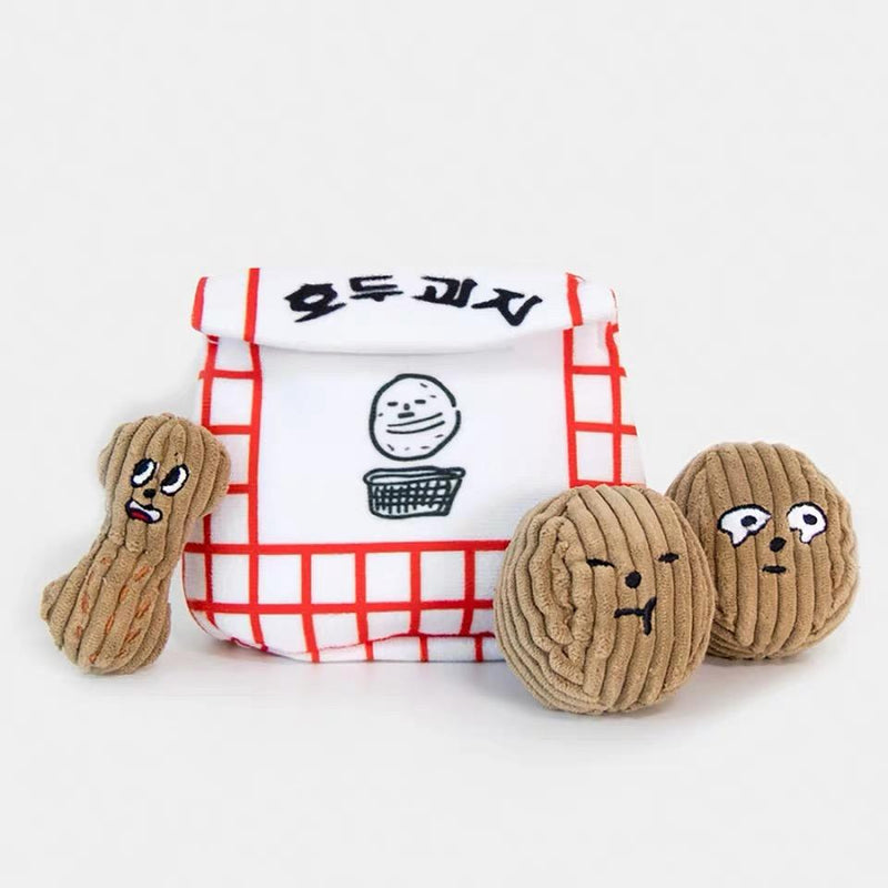Bite Me Walnut Cookie Nose Work Dog Toy - CreatureLand