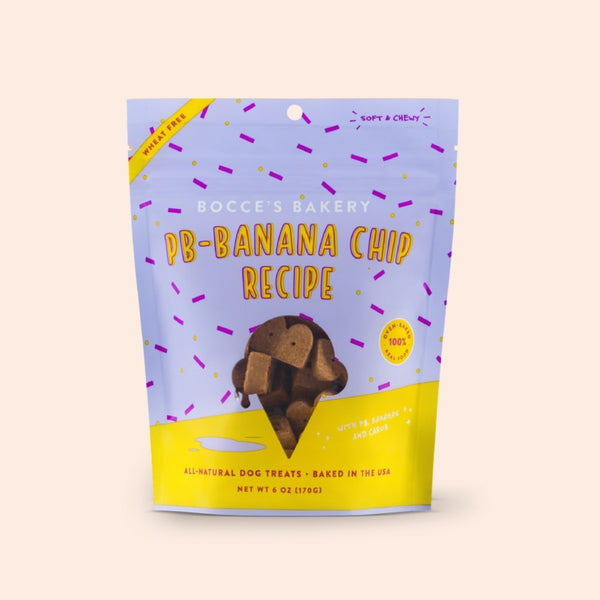 Bocce's Bakery PB-Banana Chip Soft & Chewy Dog Treats - 170g - CreatureLand