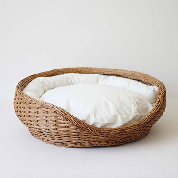 CatsCity Rattan Nest Pet Bed - CreatureLand