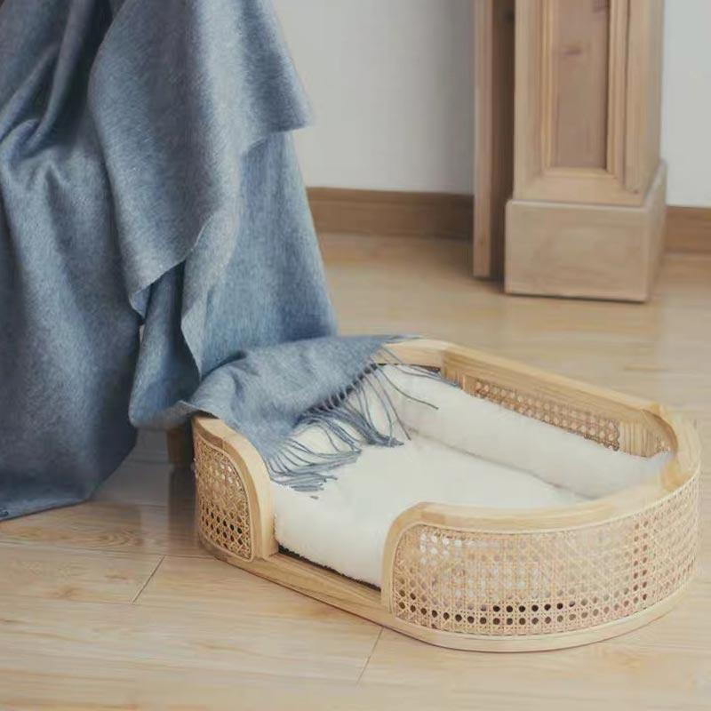 CatsCity Rattan Oval Pet Bed - CreatureLand
