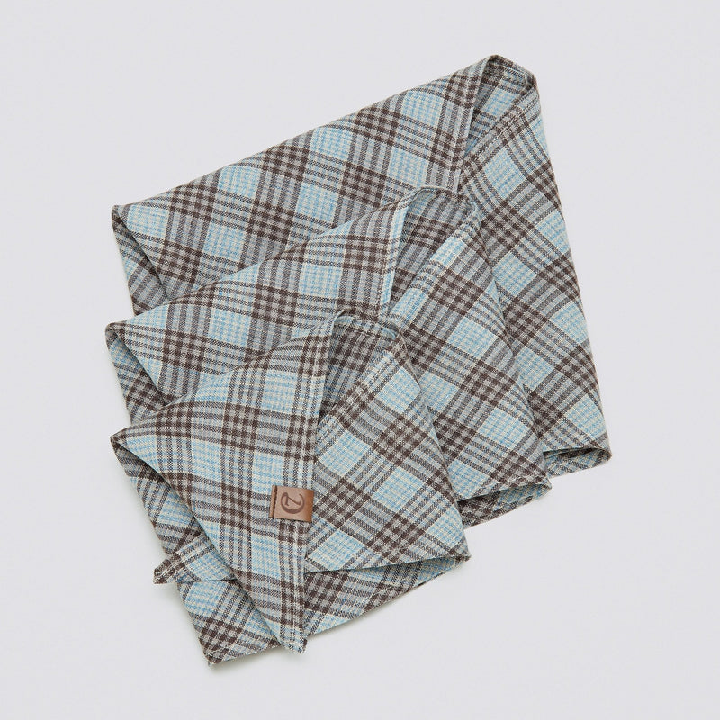 Cloud7 CHECK BROWN BANDANA - CYAN - CreatureLand