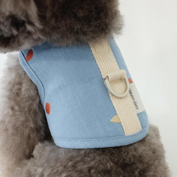 Cosy Corner Linen Soft Harness - Blue - CreatureLand