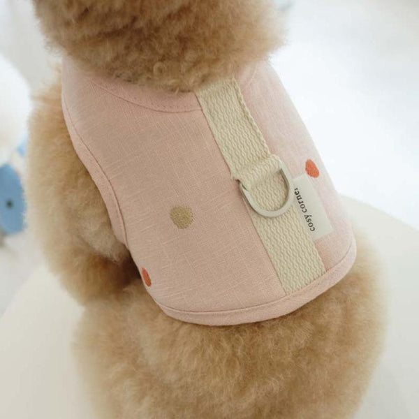 Cosy Corner Linen Soft Harness - Coral Pink - CreatureLand