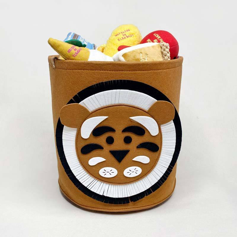 CreatureLand Felt Toy Storage Basket - Lion - CreatureLand