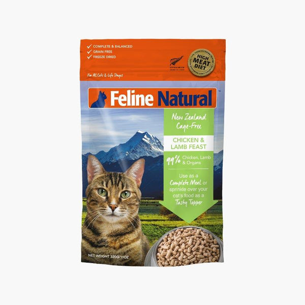 Feline Natural Feline Freeze Dried Chicken & Lamb (2 Sizes) - CreatureLand