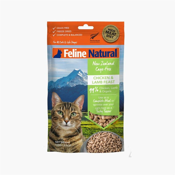 Feline Natural Feline Freeze Dried Chicken & Lamb Topper (100g) - CreatureLand