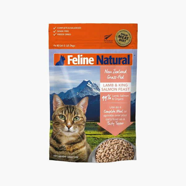 Feline Natural Feline Freeze Dried Lamb & King Salmon (2 Sizes) - CreatureLand