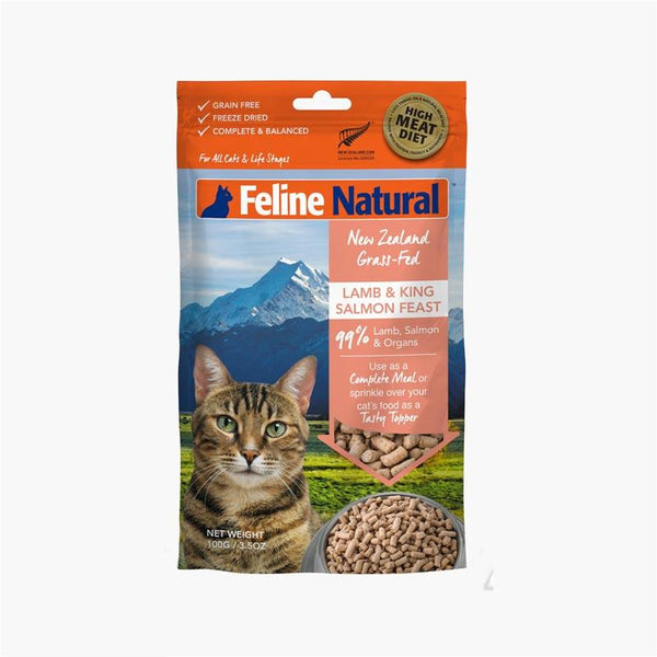 Feline Natural Feline Freeze Dried Lamb & Salmon Topper (100g) - CreatureLand