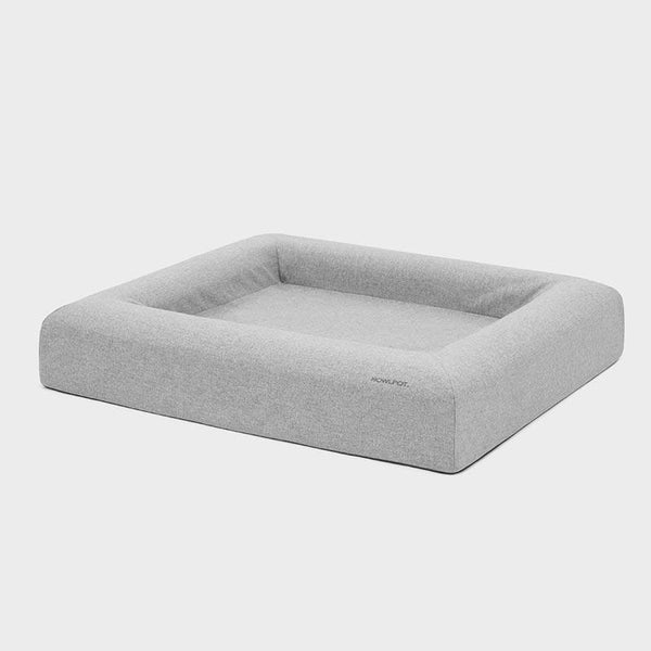Howlpot Memory Foam Pet Bed - Cozy Grey - CreatureLand