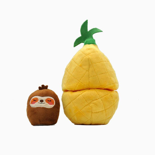 HugSmart Fruity Critterz – Pineapple Dog Toy - CreatureLand