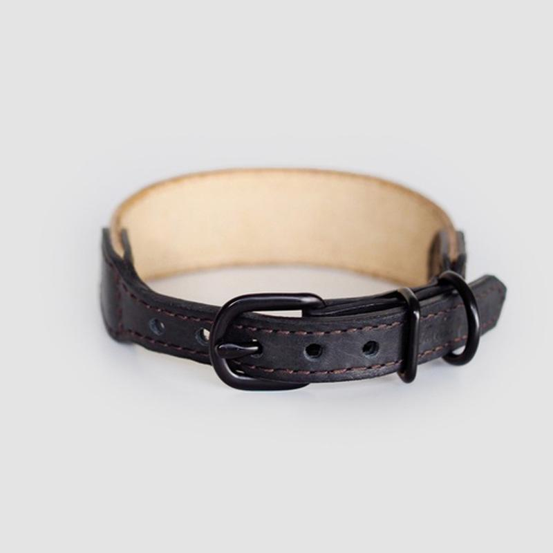 Hunting Pony KNOTCONI LEATHER DOG COLLAR - BROWN - CreatureLand