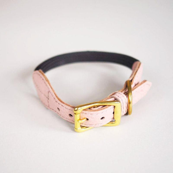 Hunting Pony PONY MACARONI LEATHER DOG COLLAR - PINK - CreatureLand