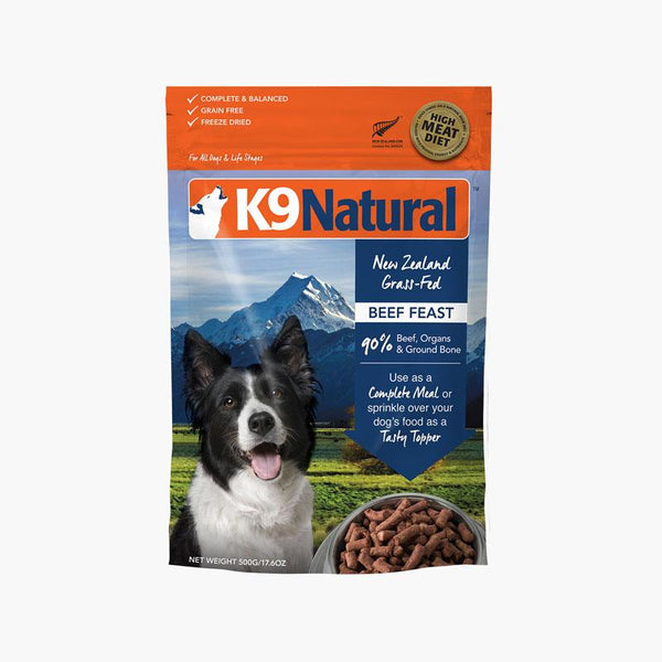 K9 Natural Beef Feast Freeze Dried (3 Sizes) - CreatureLand