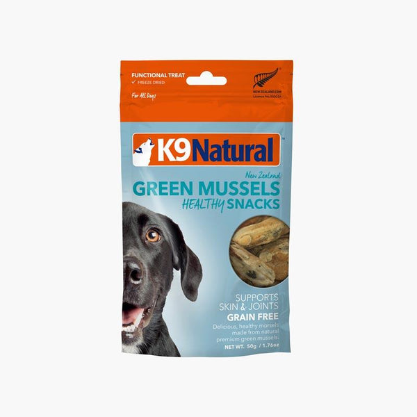 K9 Natural Freeze Dried Green Mussels Healthy Bites (50g) - CreatureLand