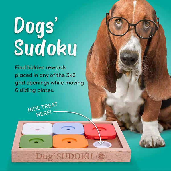 My Intelligent Pets Interactive Puzzle Game - Dog' Sudoku® Medium - Advanced Colour - CreatureLand