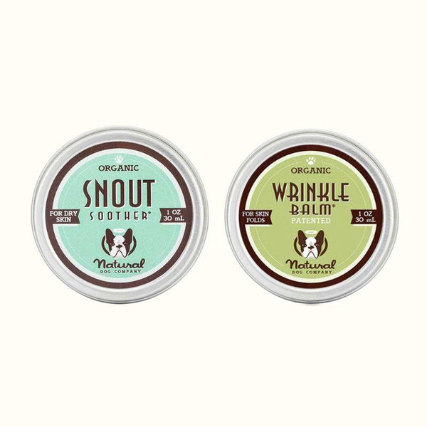 Natural Dog Company The Face Set - Snout Soother® + Wrinkle Balm® - CreatureLand