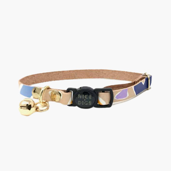 Nice Digs ROCK CANDY LEATHER CAT COLLAR - CreatureLand