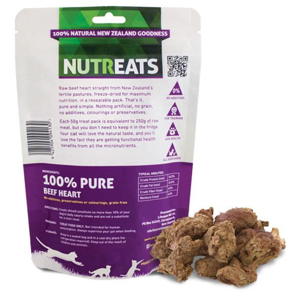 Nutreats Beef Heart Premium Cat Treats - CreatureLand