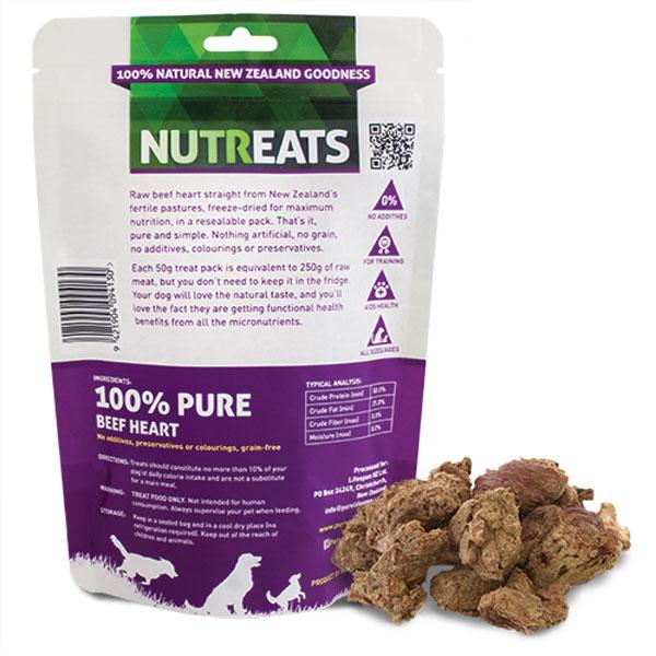 Nutreats Beef Heart Premium Dog Treats - CreatureLand