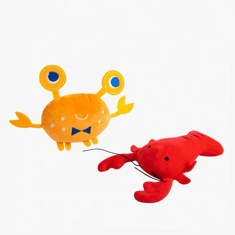 OCE Crab & Lobster Dog Toy Set - CreatureLand