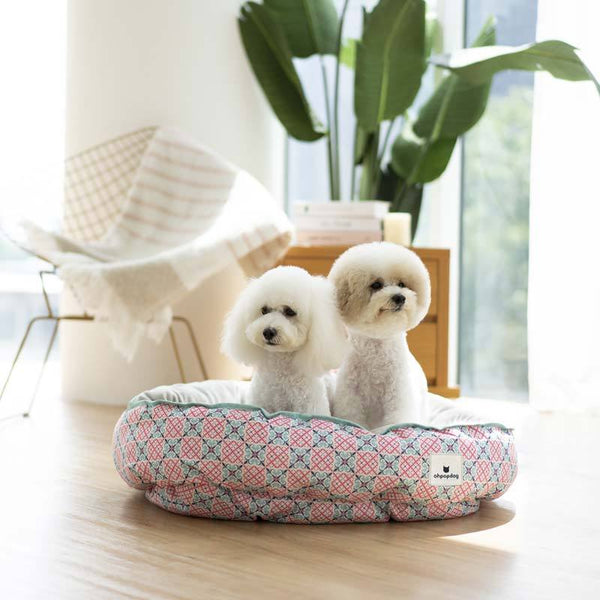 Ohpopdog Bibik Pink 14 Reversible Pet Bed - CreatureLand