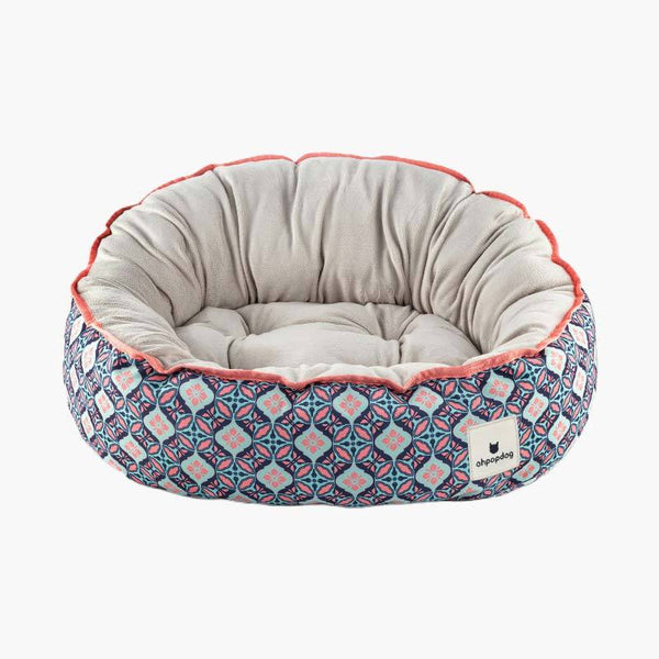 Ohpopdog Bunga Peach 6 Reversible Pet Bed - CreatureLand