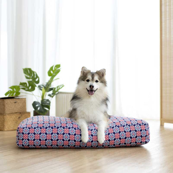 Ohpopdog Royal Blue 150 Microbeads Pet Bed - CreatureLand