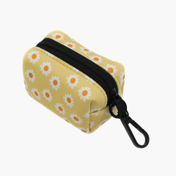 PABLO & Co. Poop Bag Carrier - Yellow Daisy - CreatureLand