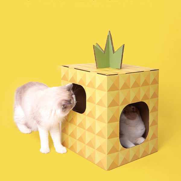 PurLab Pineapple House Scratcher - CreatureLand
