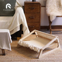 Purroom Macrame Hammock Pet Bed - CreatureLand