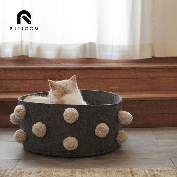 Purroom PomPom Pet Bed - CreatureLand