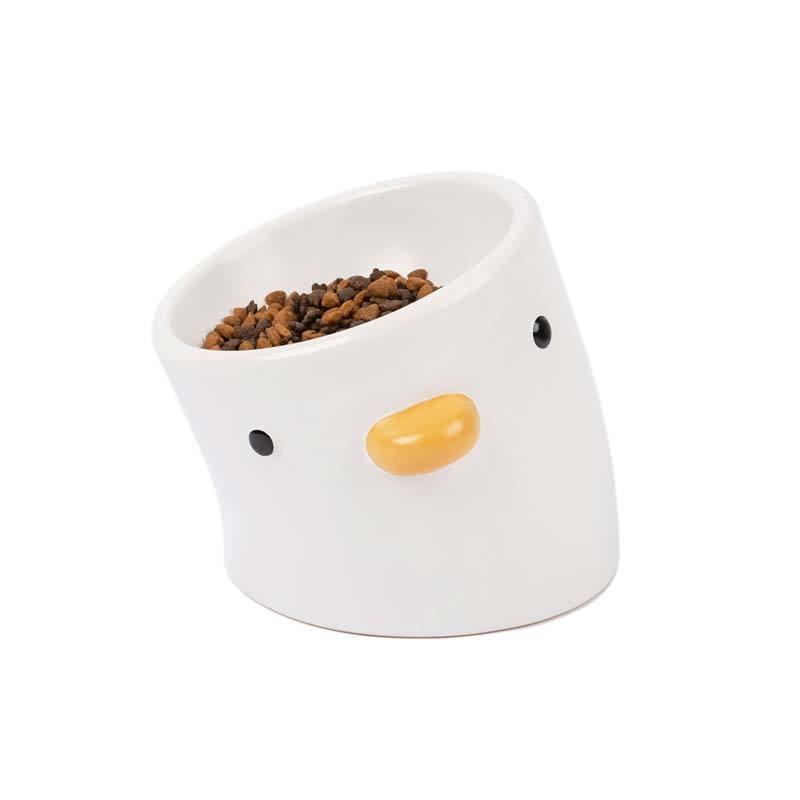 Purroom [ Pre-Order ] Little Chick Ceramic Pet Food Bowl (2 Sizes) - CreatureLand