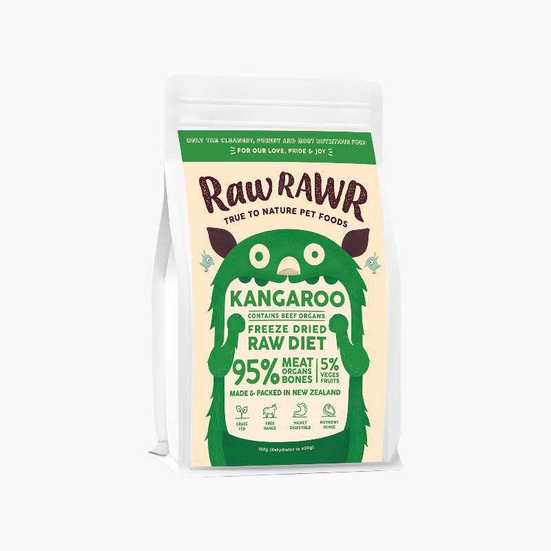 Raw Rawr 10% OFF: Freeze Dried Raw Diet - Kangaroo & Beef (2 Sizes) - CreatureLand