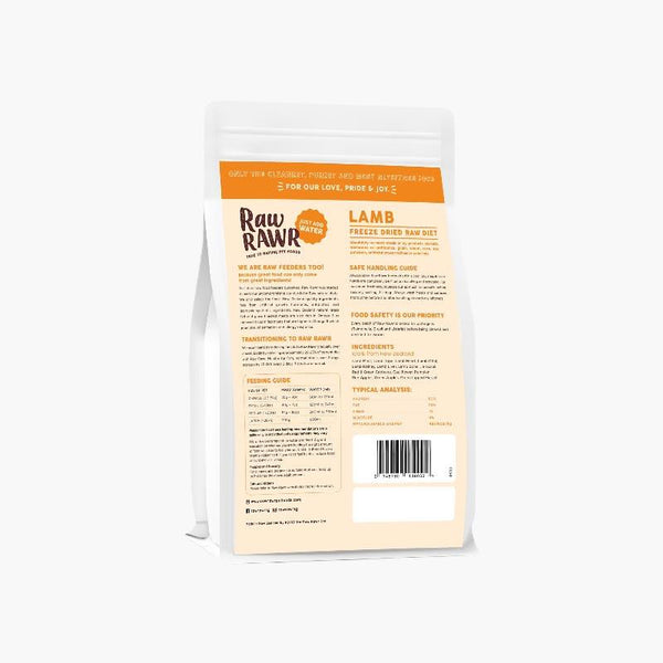 Raw Rawr 10% OFF: Freeze Dried Raw Diet - Lamb (2 Sizes) - CreatureLand