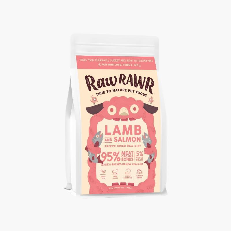 Raw Rawr 10% OFF: Freeze Dried Raw Diet - Lamb & Salmon (2 Sizes) - CreatureLand