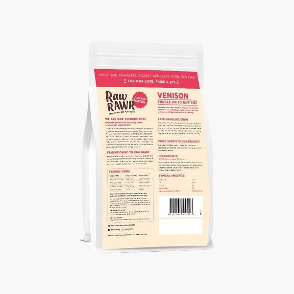 Raw Rawr 10% OFF: Freeze Dried Raw Diet - Venison (2 Sizes) - CreatureLand