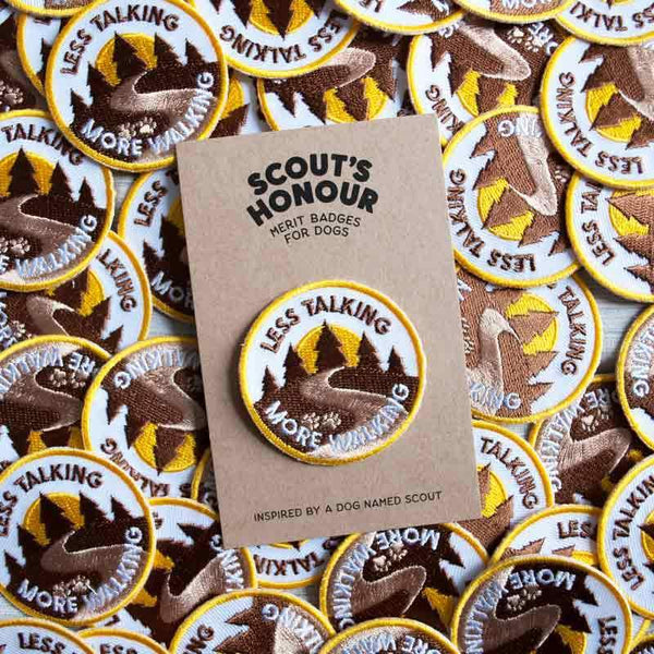 Scout's Honour Less Talking More Walking Merit Badge - CreatureLand