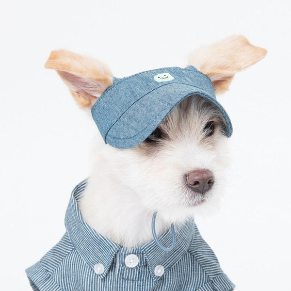 Sniff's Friends Denim Sun Visor - Blue - CreatureLand