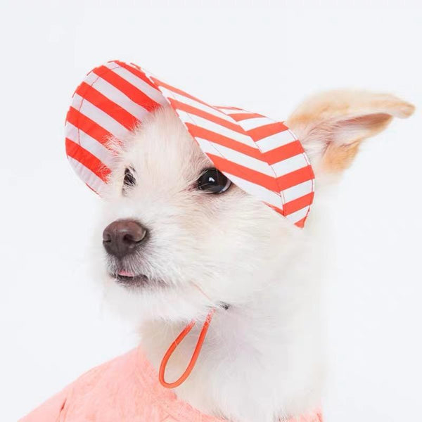 Sniff's Friends Stripe Sun Visor - Orange - CreatureLand