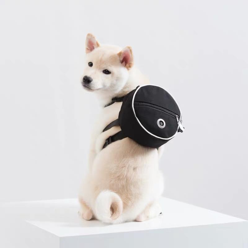 Sniff's Friends Tambourine Harness Backpack - Black - CreatureLand