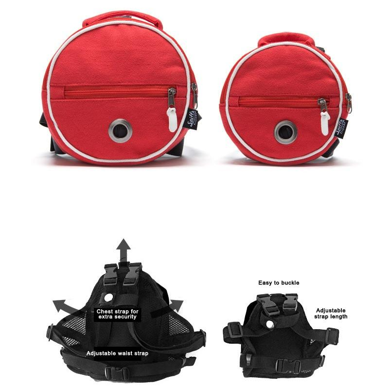 Sniff's Friends Tambourine Harness Backpack - Red - CreatureLand