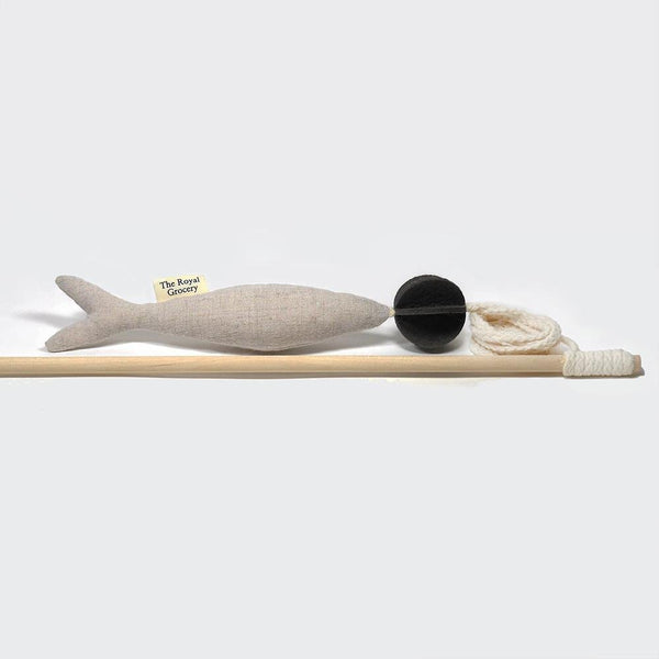The Royal Grocery Fish and Chew Cat Toy - Beige - CreatureLand