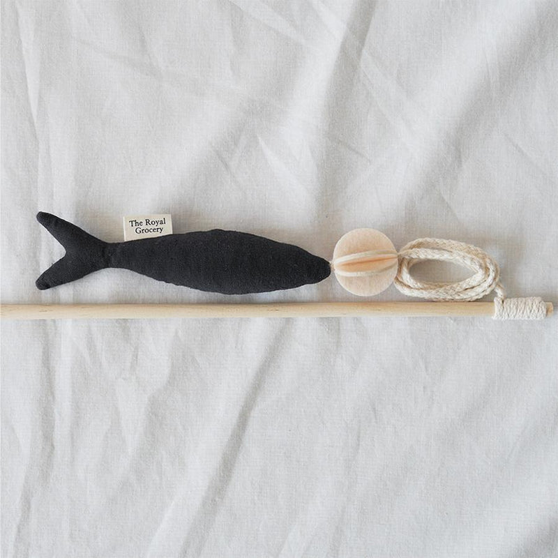 The Royal Grocery Fish and Chew Cat Toy - Charcoal - CreatureLand