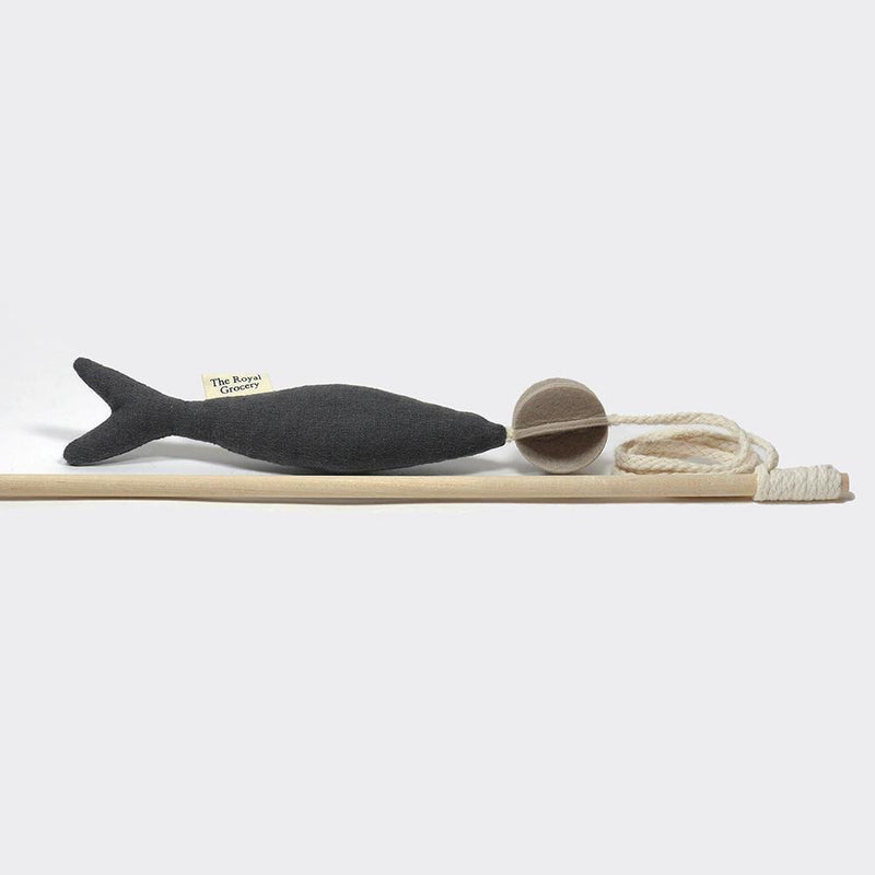 The Royal Grocery Fish and Chew Cat Toy - Khaki - CreatureLand