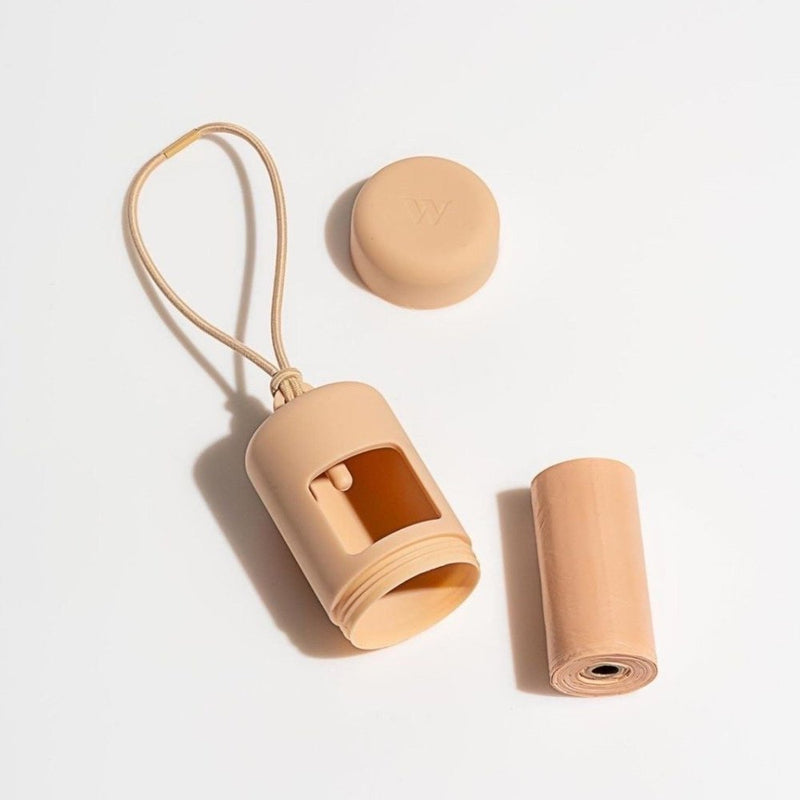 Wild One Poop Bag Carrier - Tan - CreatureLand